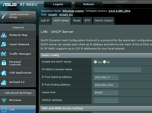 Définissez la plage DHCP