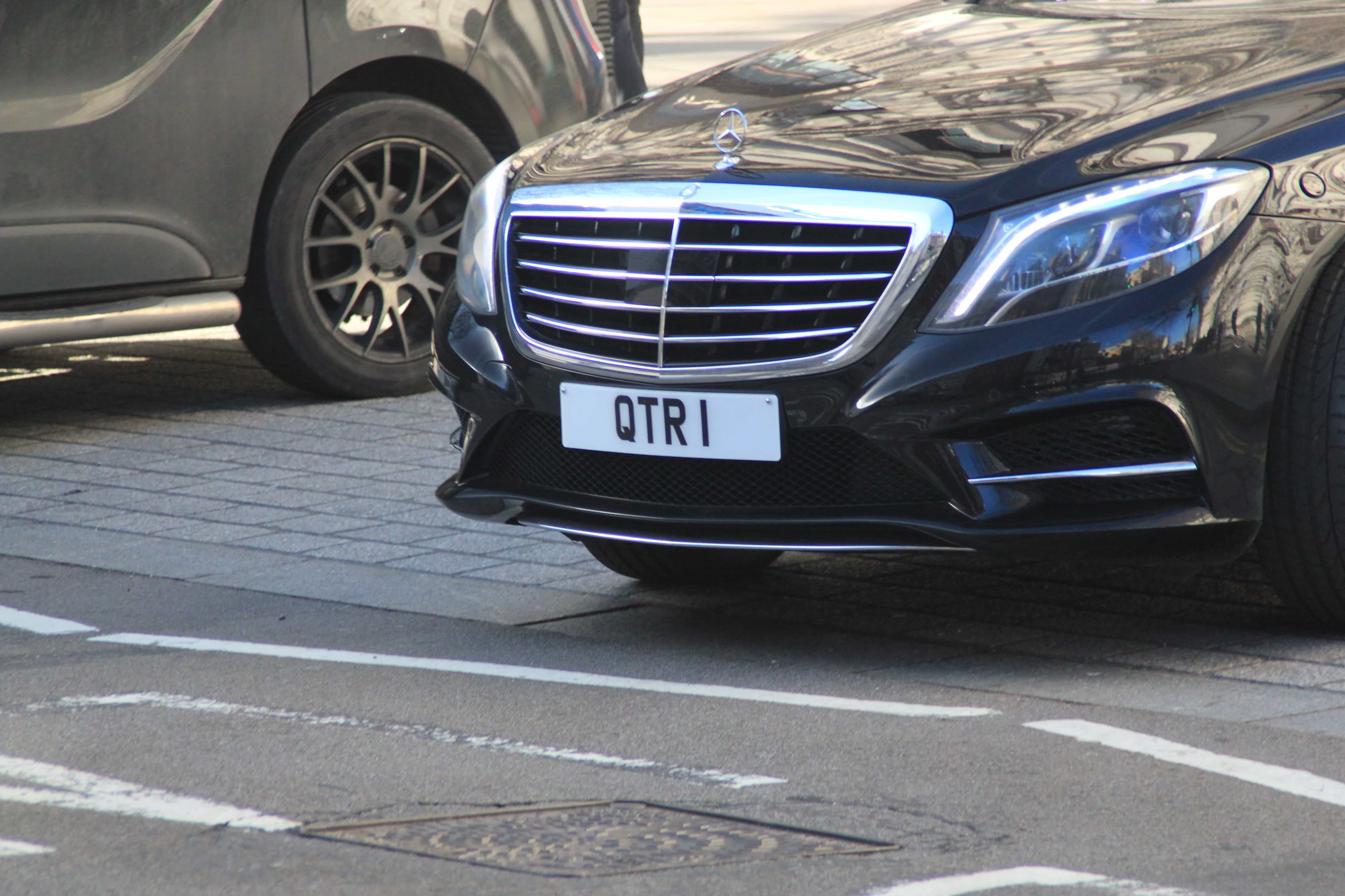 Private style number plate on car.