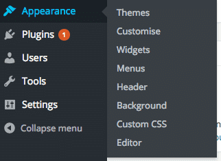 disable the hover effect in a menu item