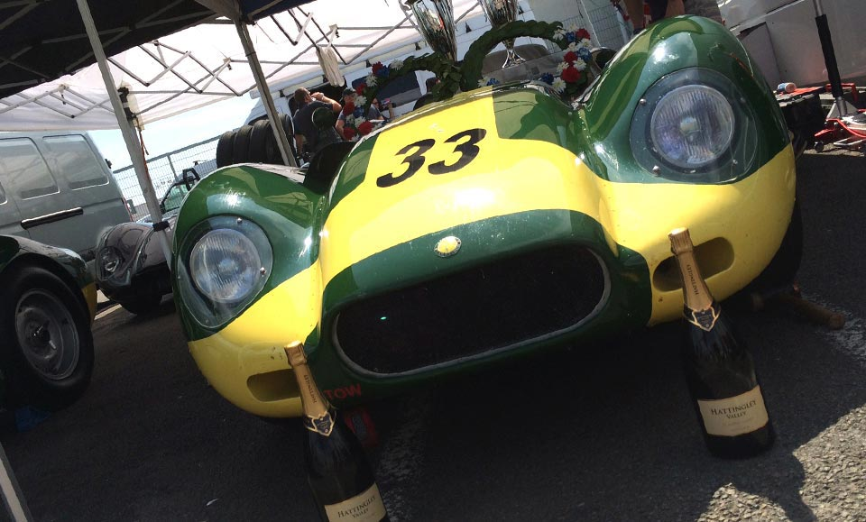 LISTER JAGUAR KNOBBLY WINS AT SILVERSTONE CLASSIC