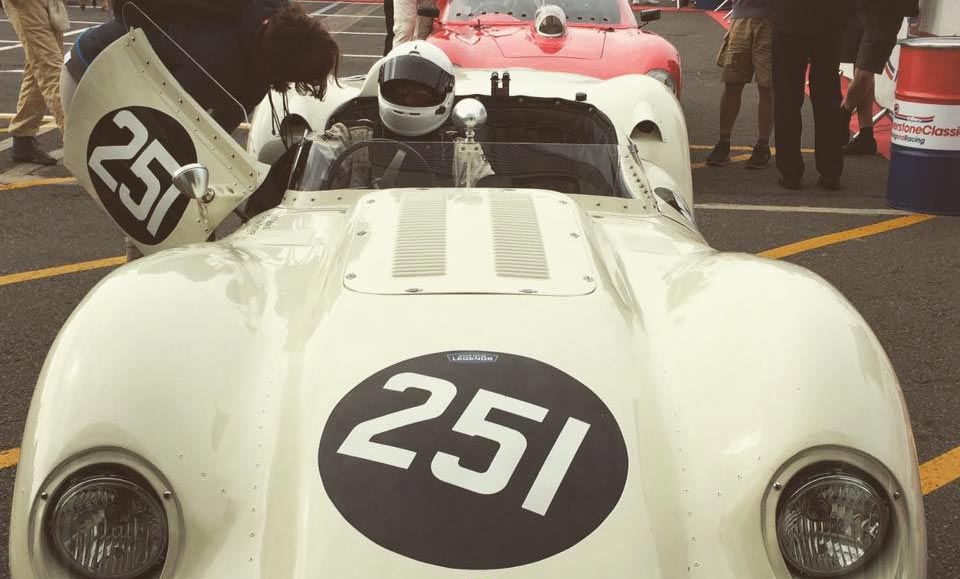 LISTER JAGUAR AT THE 25TH SILVERSTONE CLASSIC