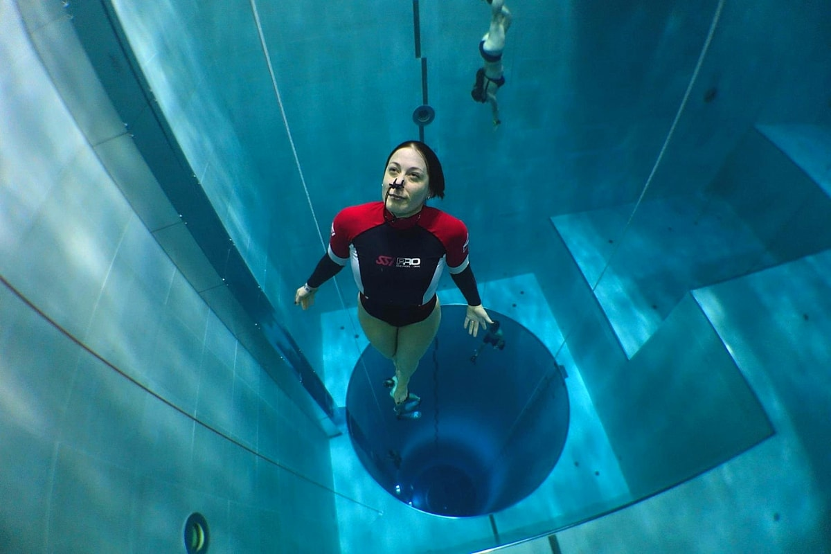 dive the deepest pool in the world Venice