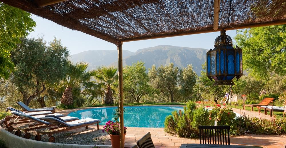Pool at kaliyoga Raw Food Yoga Retreat Spain