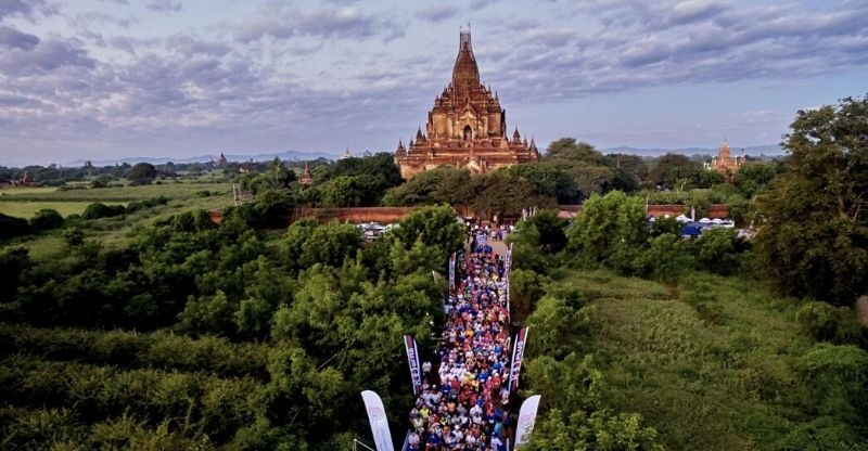 Bagan Temple Marathon start line