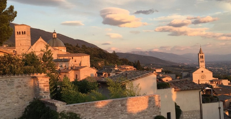 Sunset at 6 Day Meditation Retreat to Assisi