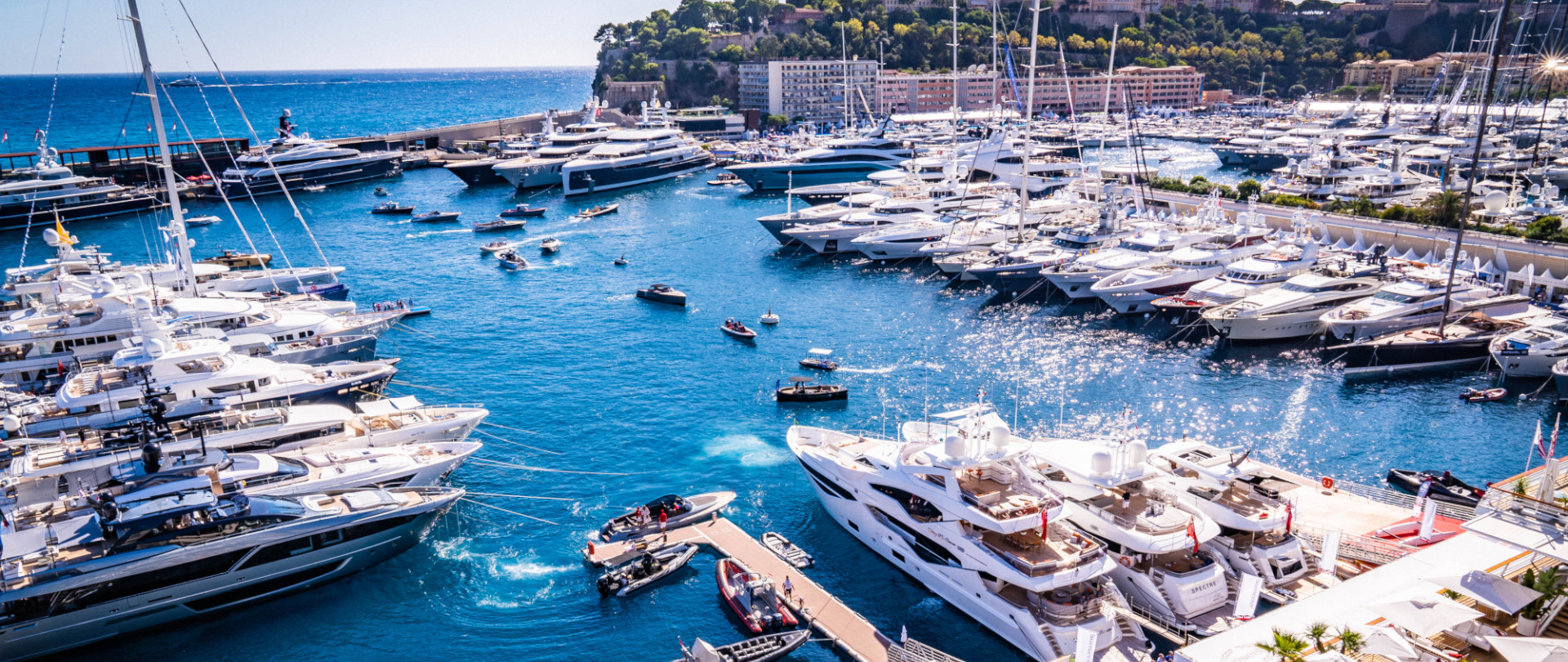 Luxury yachts at the Monaco Yacht Show