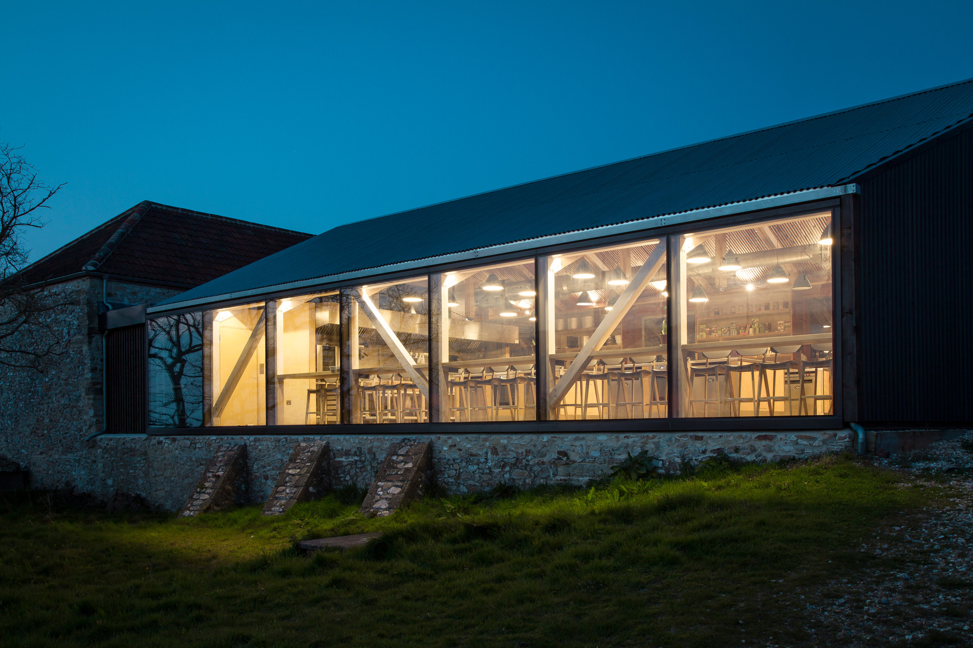 River Cottage Cookery at night