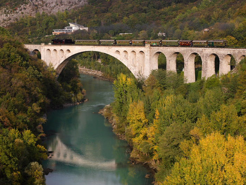 Slovenian Steam Train Journey