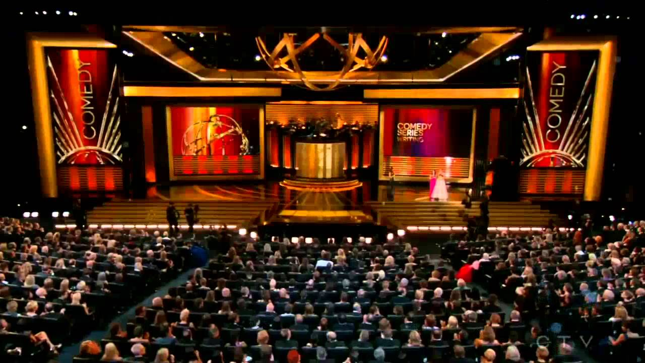 The stage at The Primetime Emmy Awards