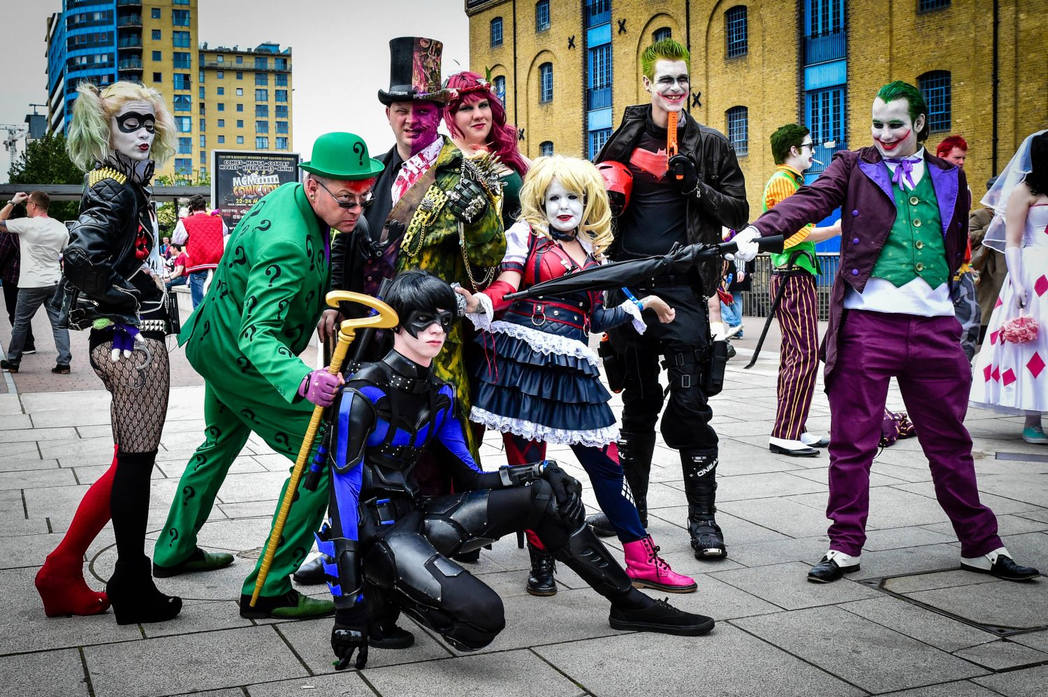 Group of people dressed in Cosplay at Comic Con London