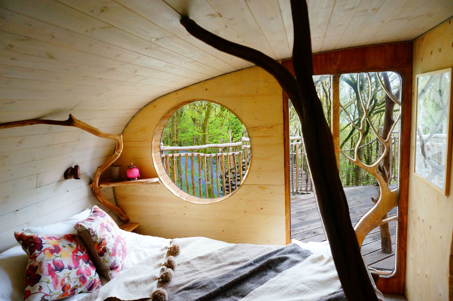Interior of Welsh Treehouse