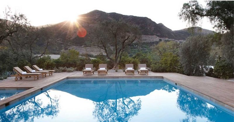 Outdoor pool at The Ranch luxury health retreat