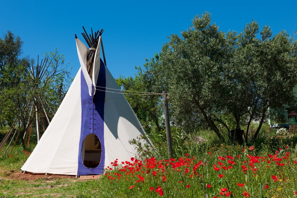 Kaliyoga teepee Spanish Mountain Yoga retreat