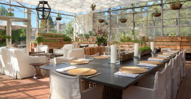 Dinning room at Luxury Health Retreat Malibu