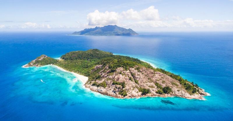 Ariela view of North Island, Seychelles