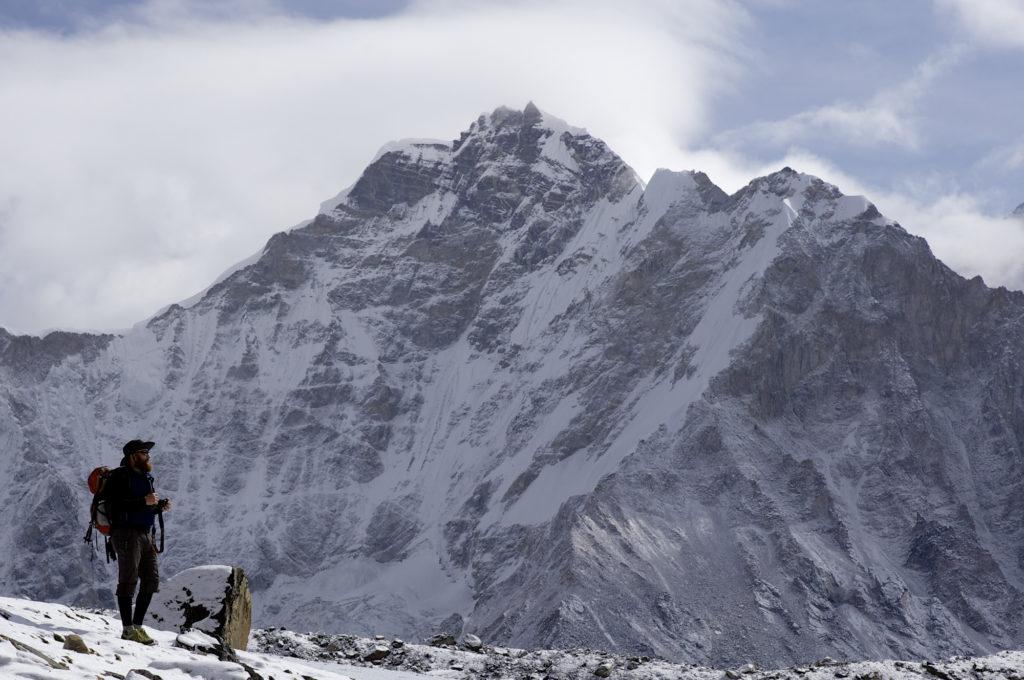 Man hiking in Tibet