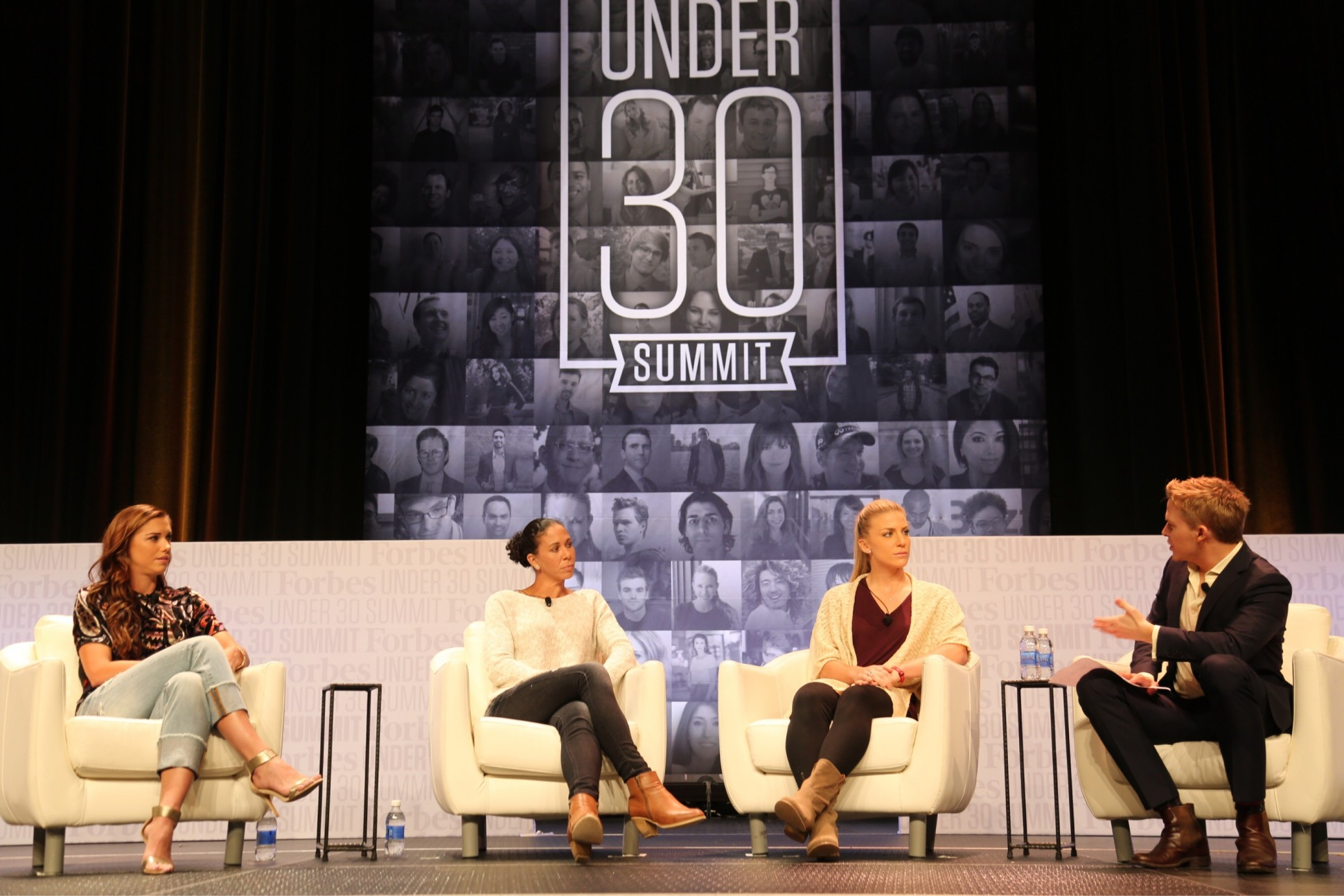 Speakers on stage at Forbes Under 30 Summit