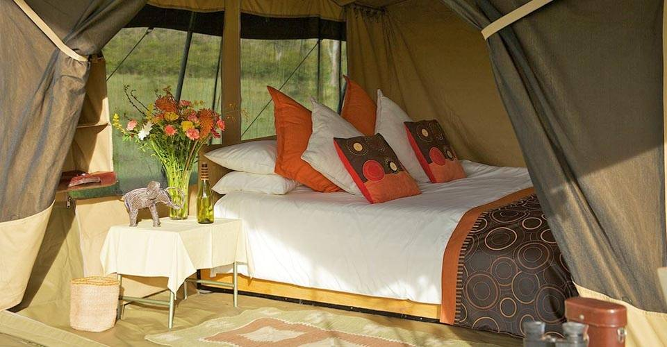 Luxury tent at The Great Kenya Migration Safari