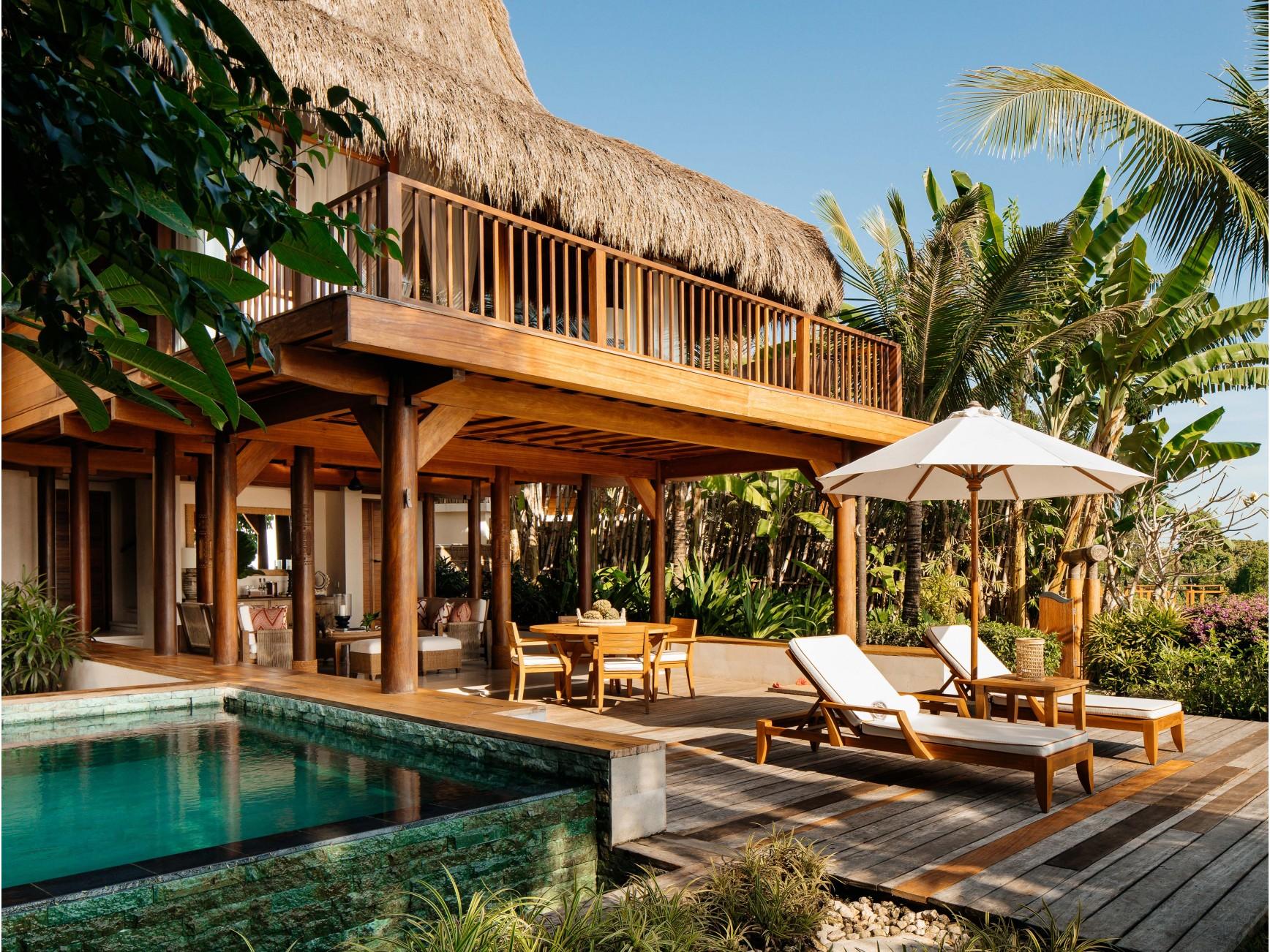 Outdoor pool area at Nihi Sumba Island