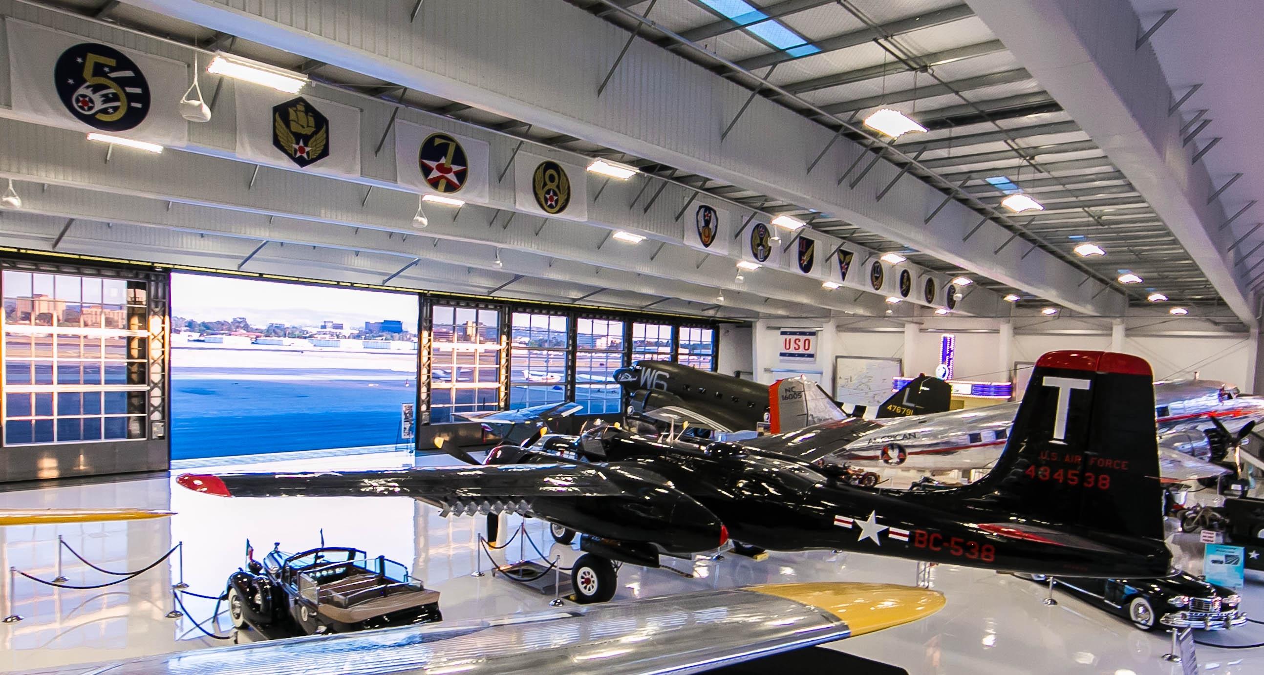 Aircraft hanger at Air Combat School