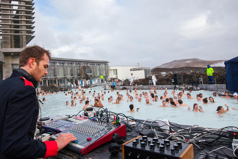 DJ at Blue Lagoon Iceland Airwaves Festival