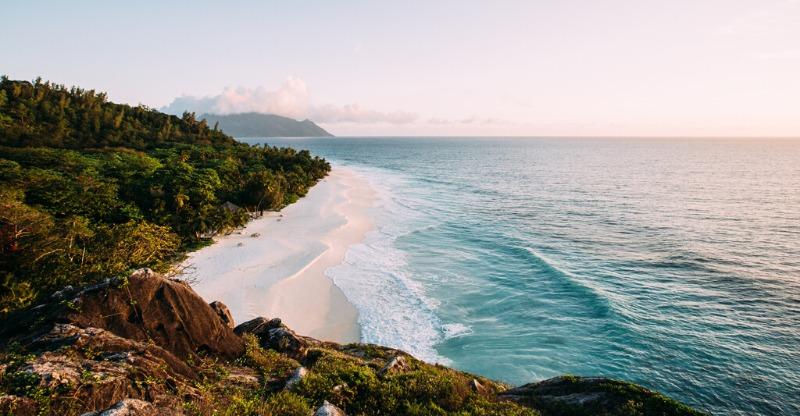 Beach view North Island, Seychelles