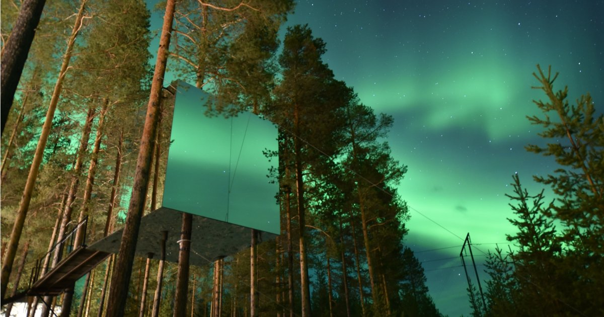 Treehotel treehouse northern lights