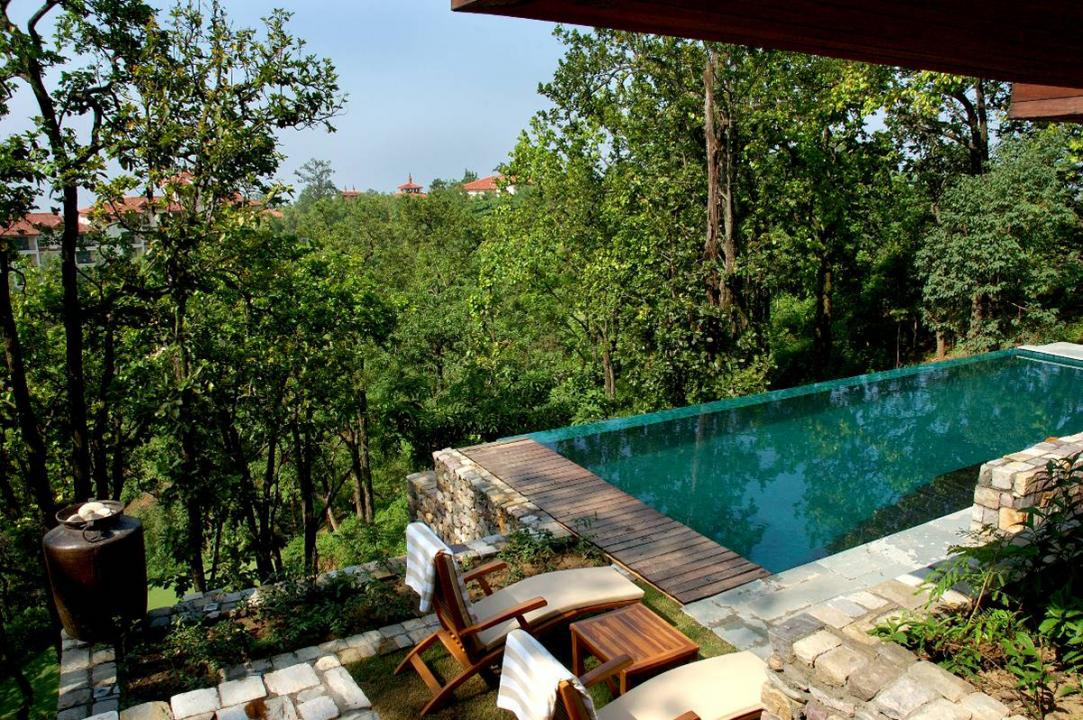 Outdoor pool at Ananda Himalayan Couples Retreat