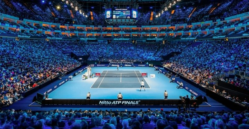 View of court at ATP World Tour Finals VIP