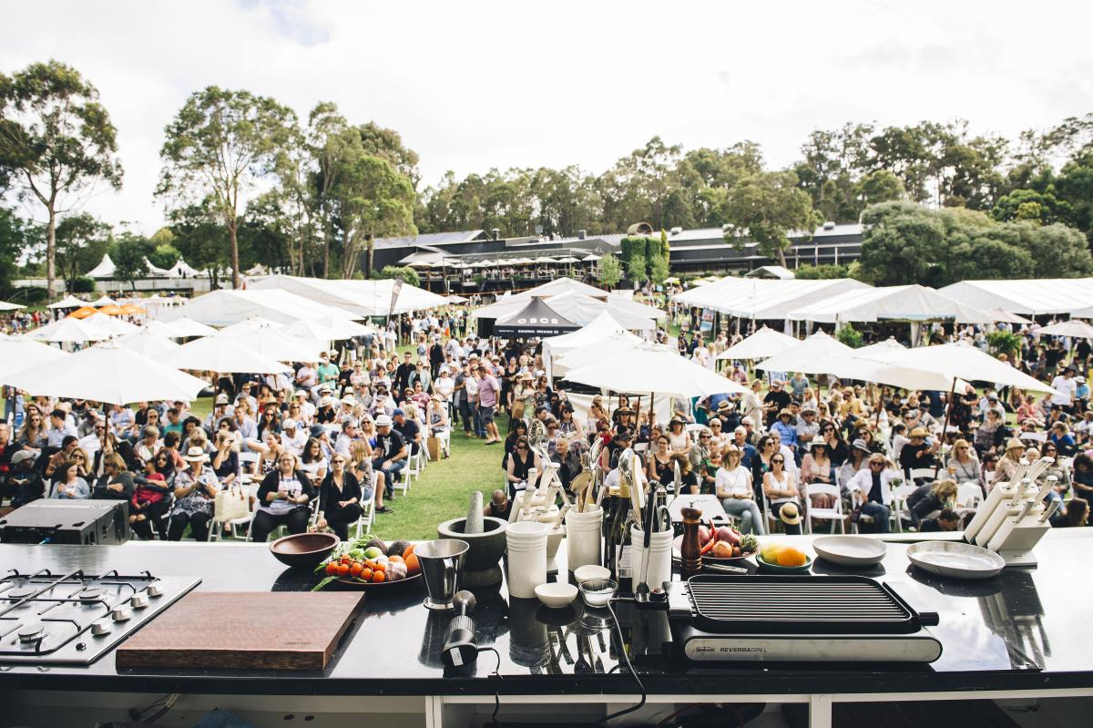 cooking demo at Margaret River Gourmet Escape