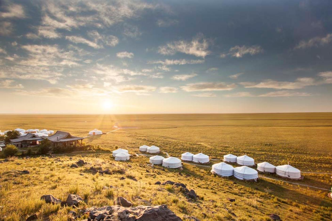 Exterior at Three Camel Lodge Mongolia