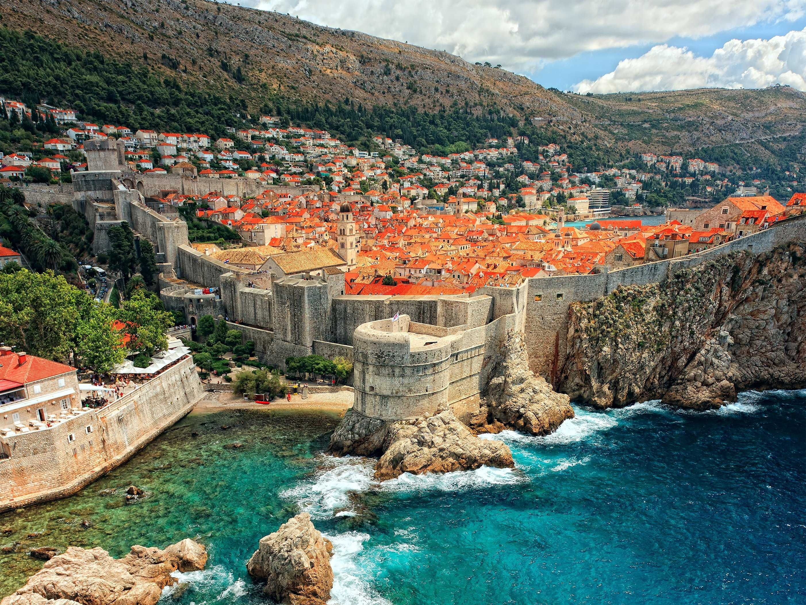 Walled city in Game of Thrones Tour, Croatia
