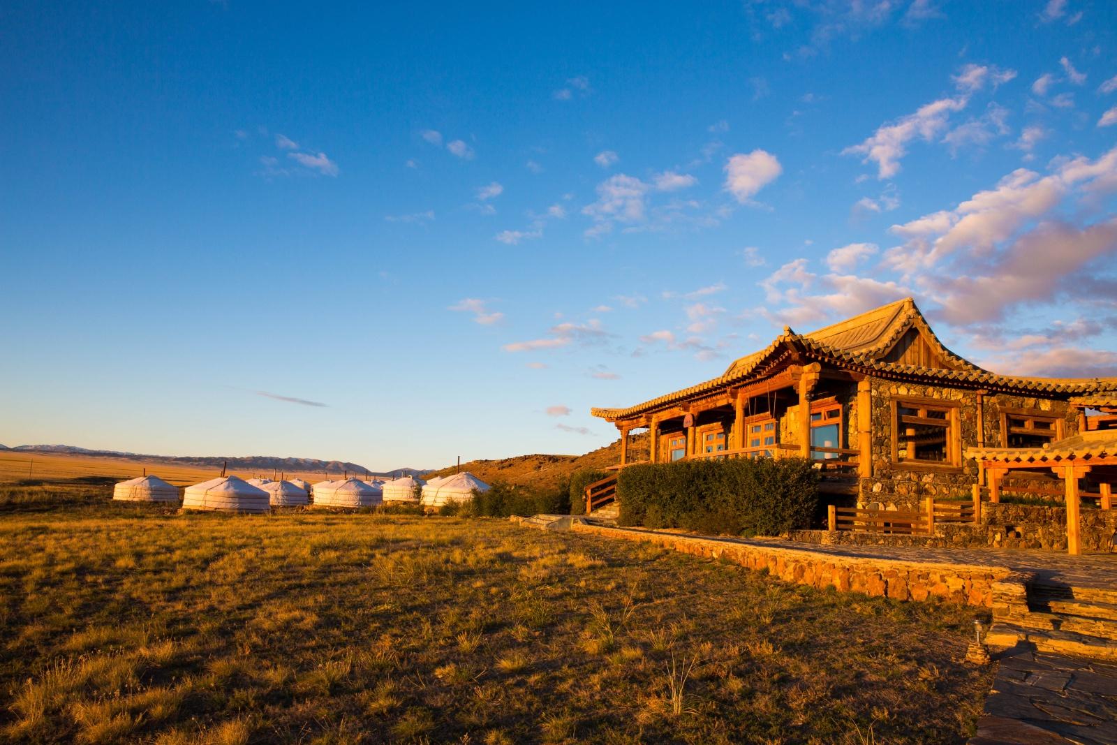 Exterior of Three Camel Lodge Mongolia