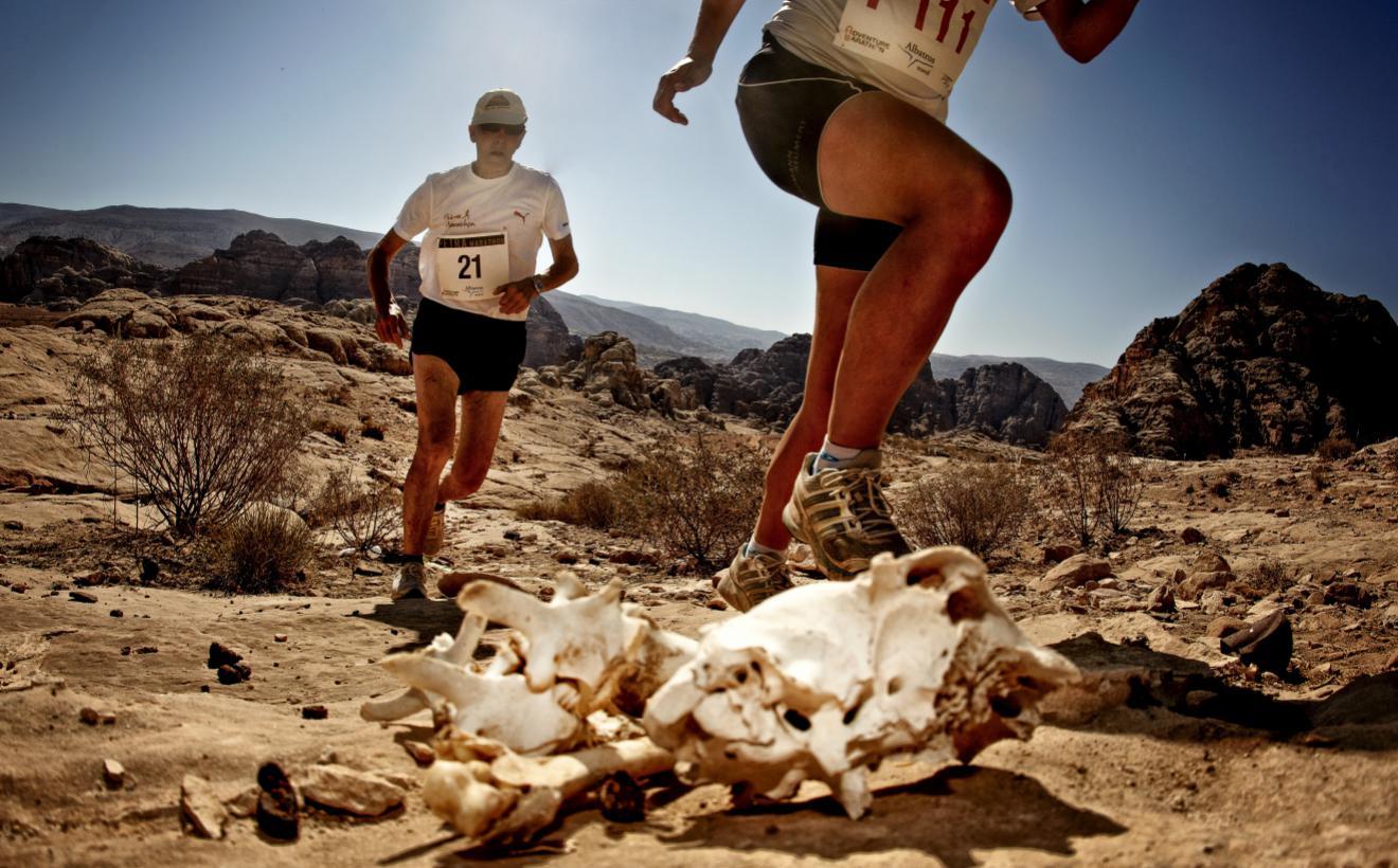 Petra Desert Marathon runners