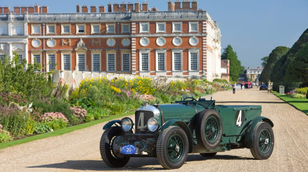 classic car at concours of elegance at hampton court palace