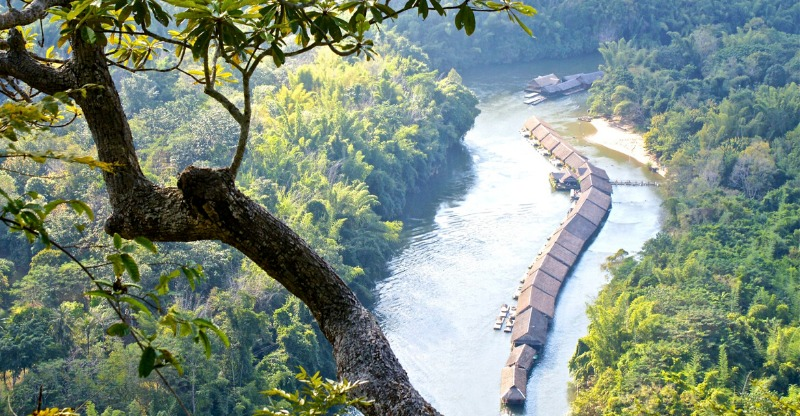 River Kwai Jungle Rafts from above