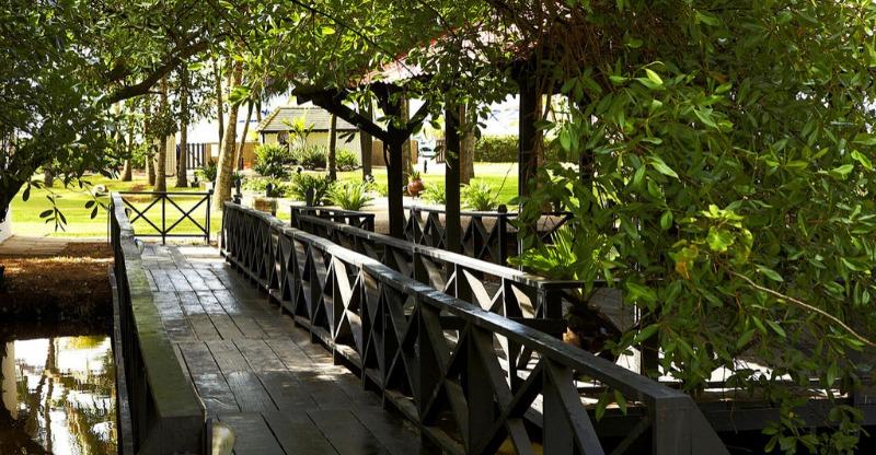 leafy garden at labadi beach hotel