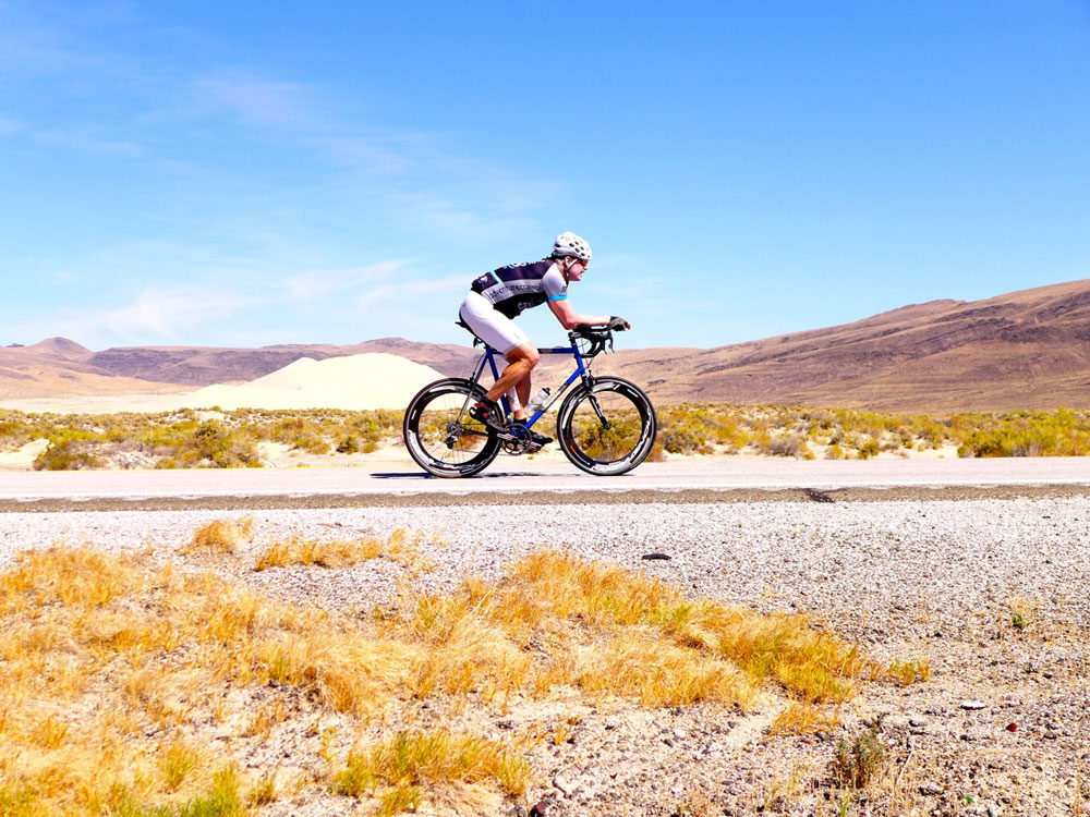 rider on racing bike in silver state 508