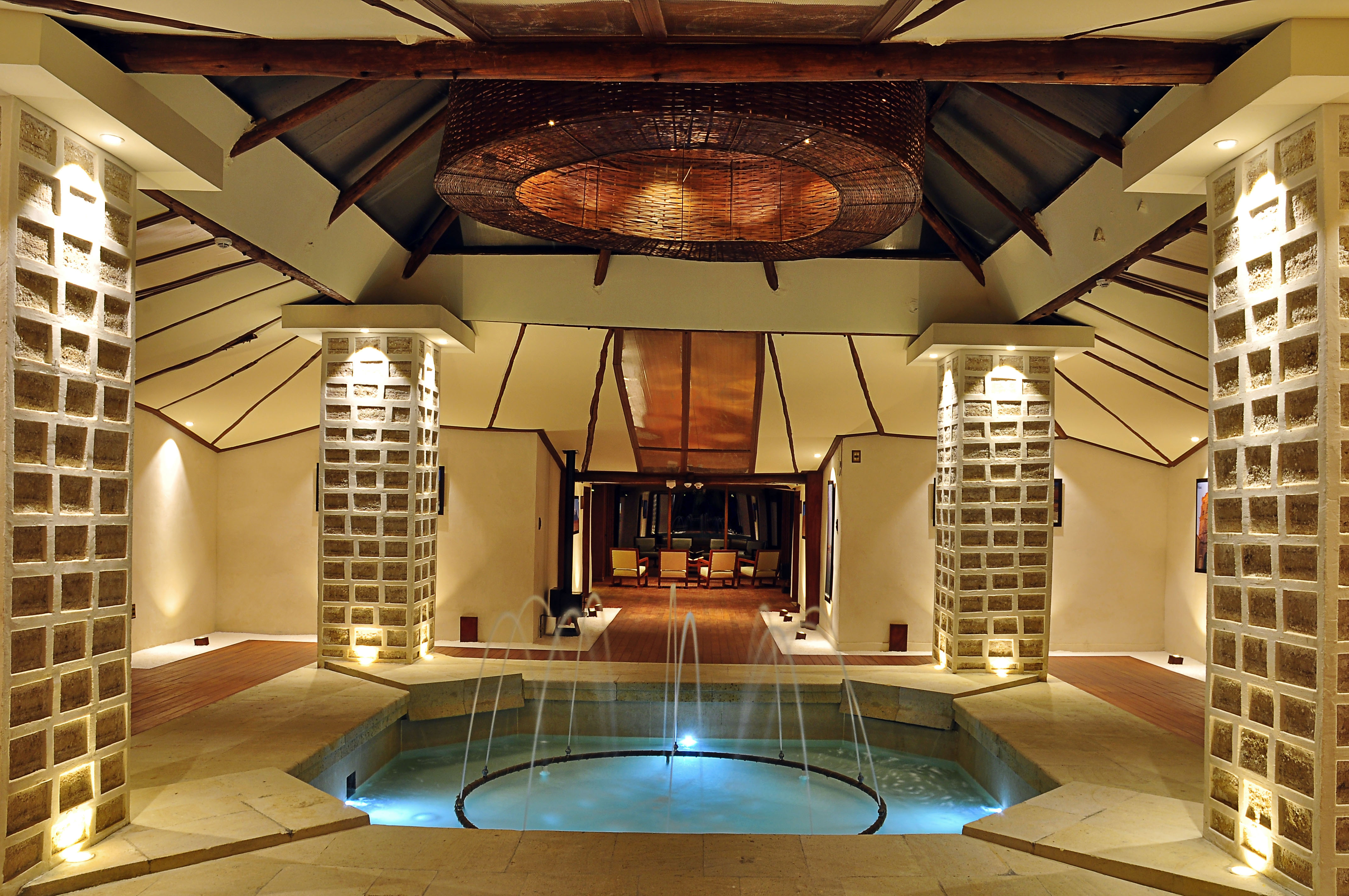 inside pool at palacio de sal