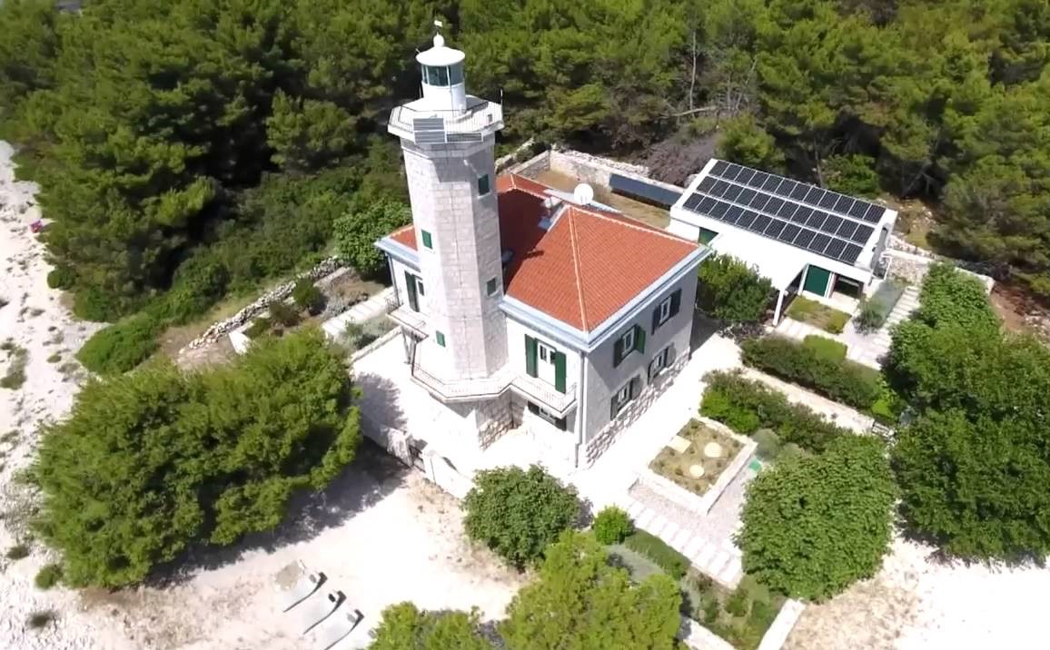 croatian lighthouse aerial view