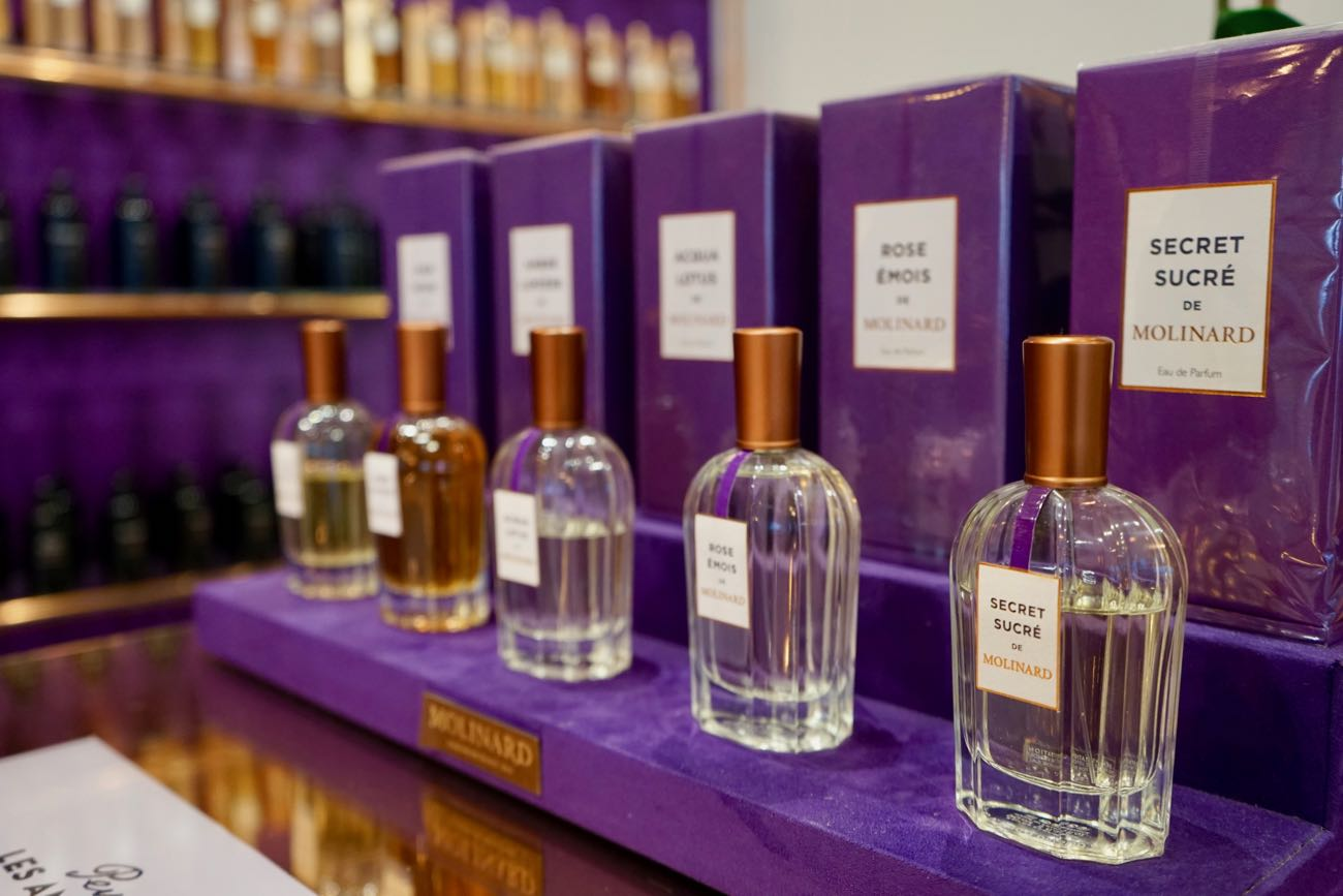 Molinard Perfume bottles and boxes at Perfect your own perfume