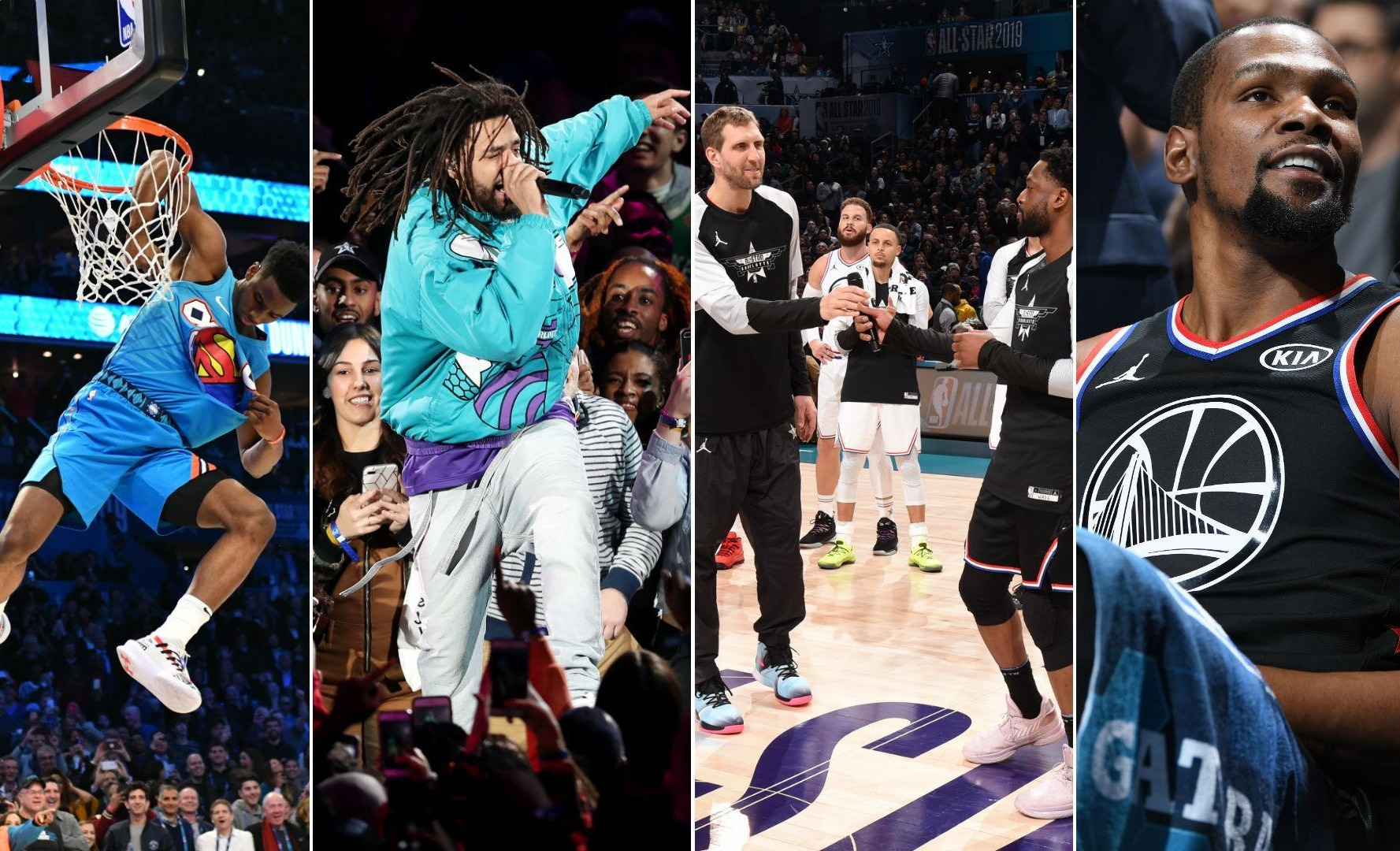 Collage of NBA All Stars Game and Music