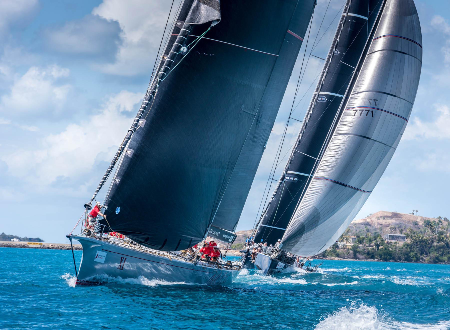 closeup yacht at hamilton race week