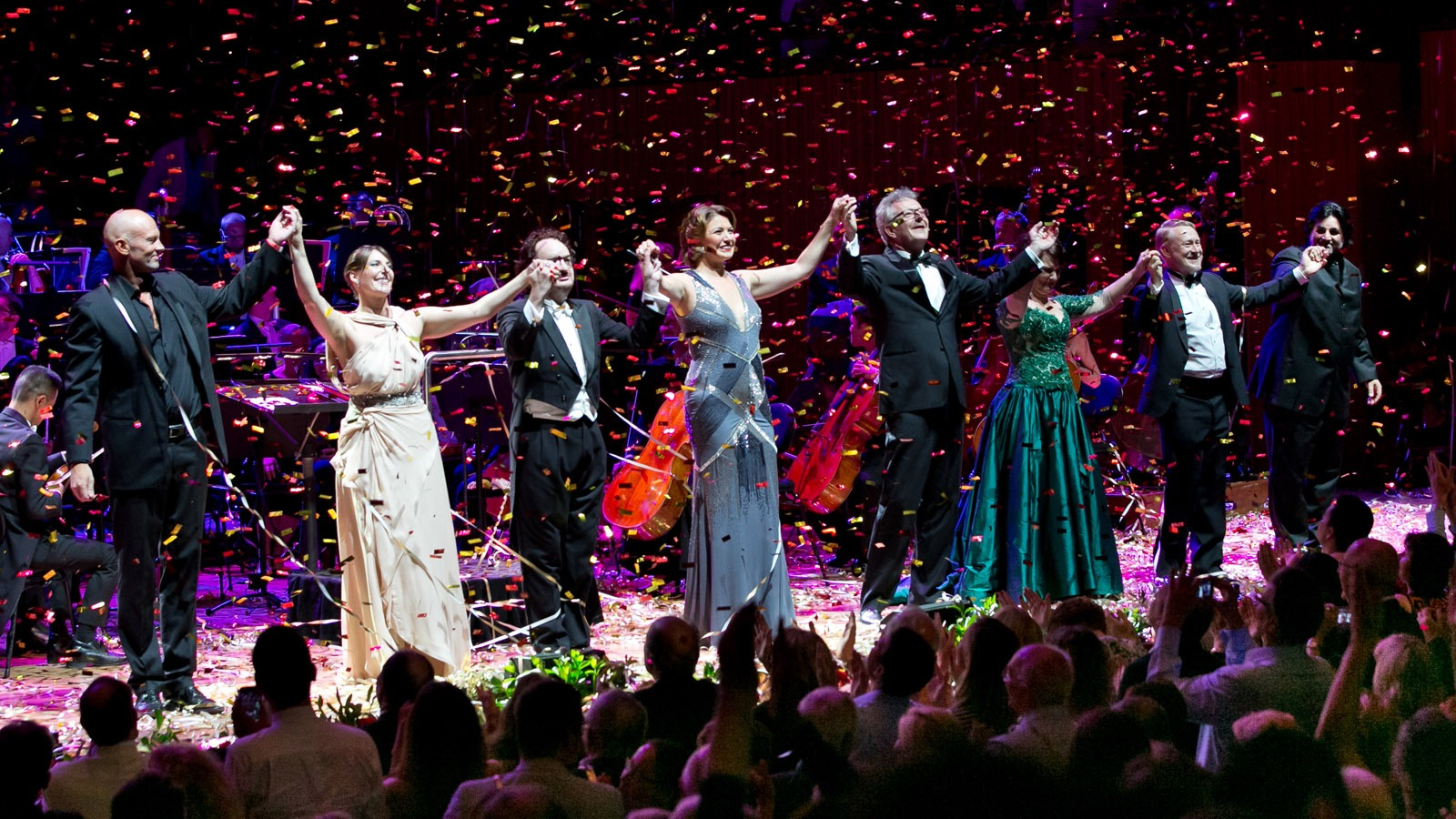 opera singers on stage at new years eve gala ball sydney