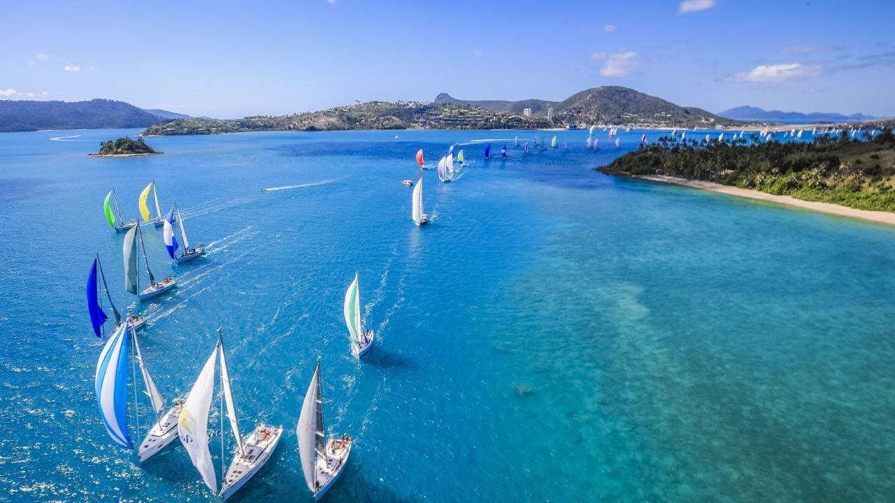 yachts in the ocean at hamilton race week