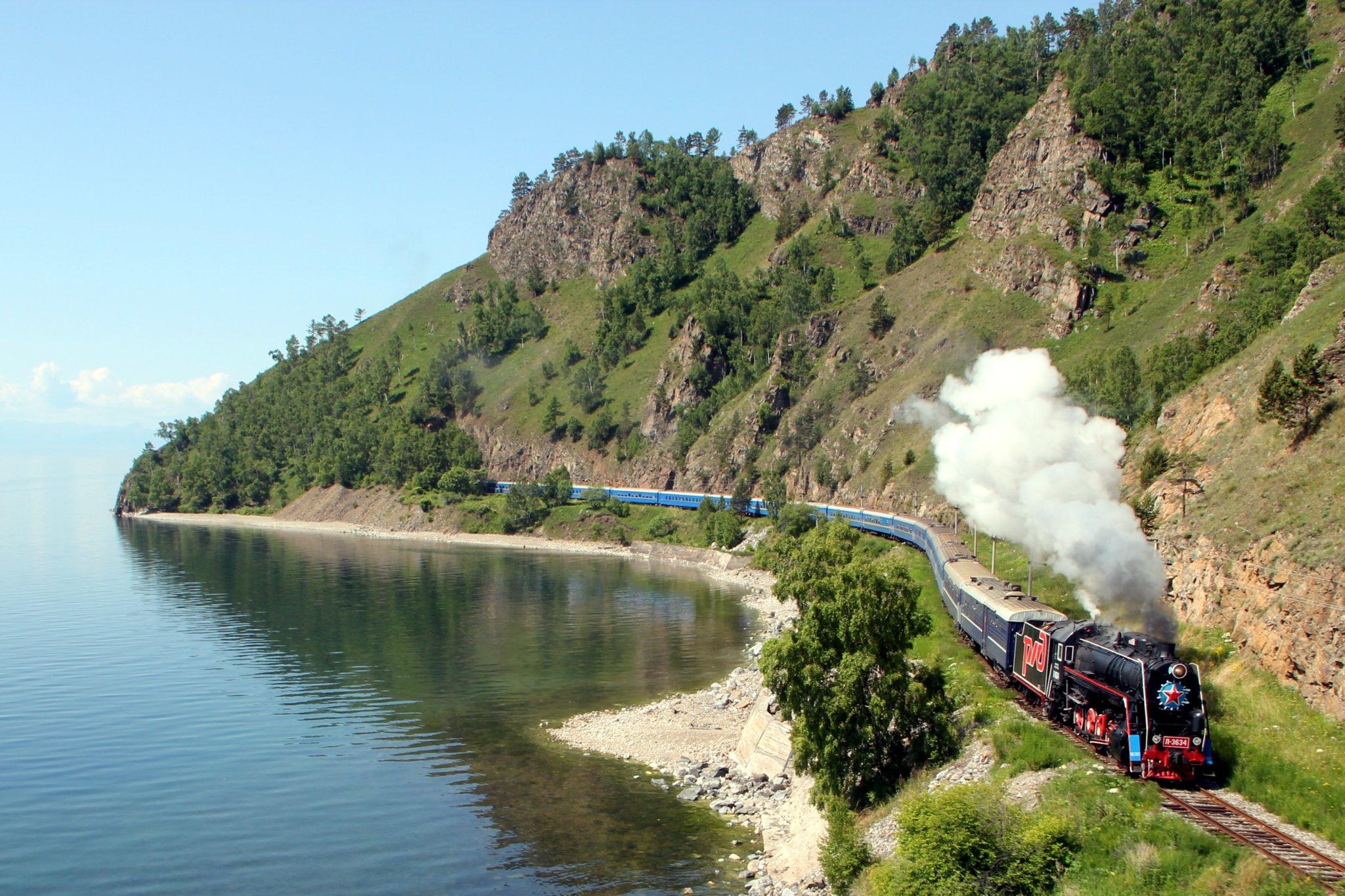 trans siberian railway along the coast