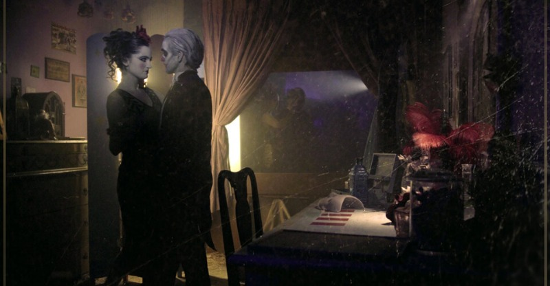 escape hotel actors in gothic costume