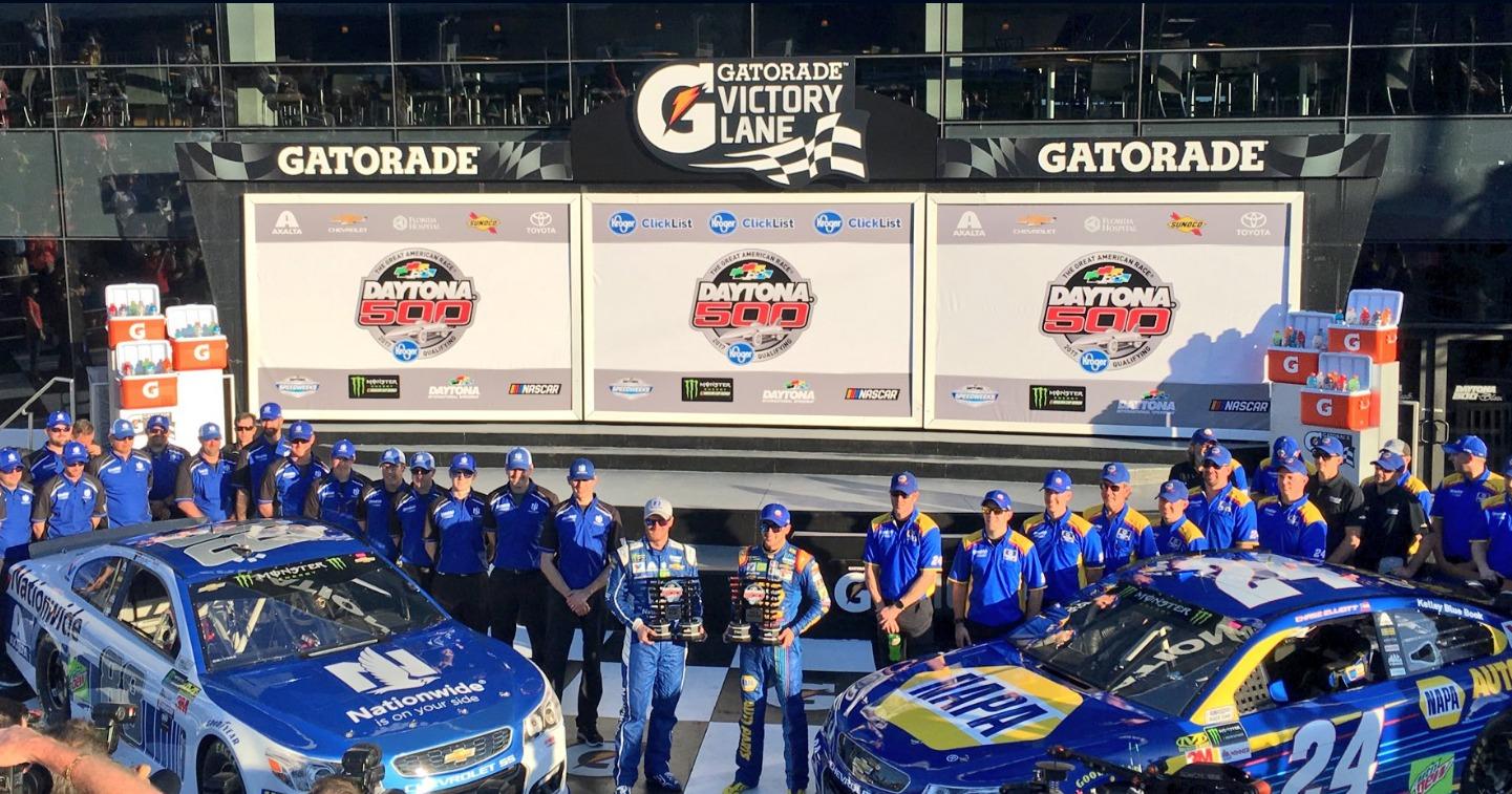 winners, teams and cars at Daytona 500 nascar