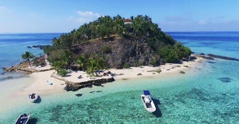your own private island surrounded by turqouise waters