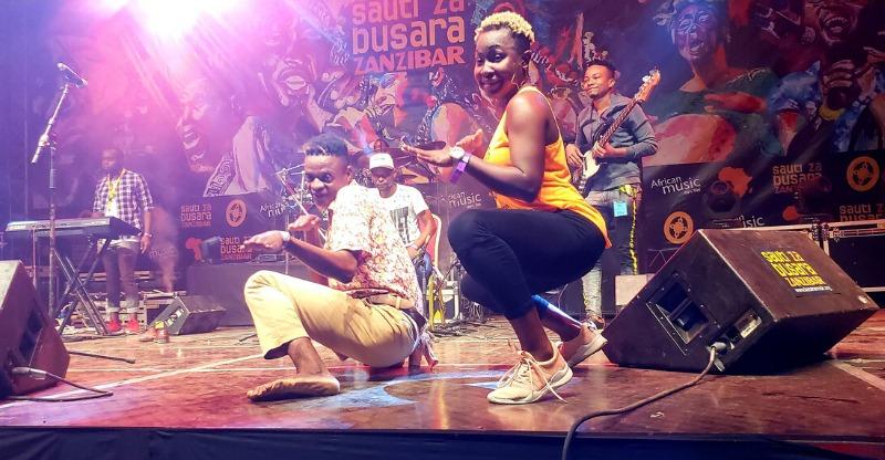 Dancers on stage at sauti za busara